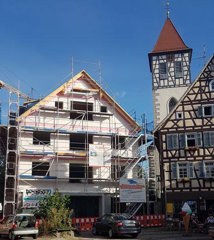Alter Rathausplatz Rudersberg – Fertigstellung Rohbau